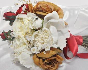 Rustic Silk Bridal Bouquet