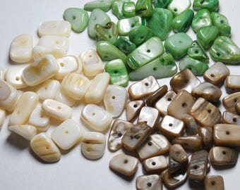 assortment of Pearl chips 3 colors, 10cm of each