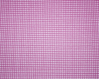 Pink gingham cotton fabric