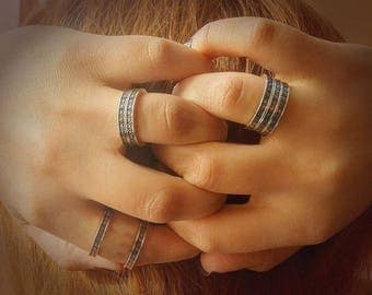 """Arm Root Handmade Silver Ring """"Collection ArmRoot"""" , Armenian Jewelry, Armenian Silver, Armenian Ring, Eternity, Armenian Gift"""