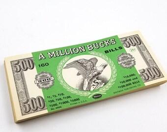 Whitman A Million Bucks Play Money