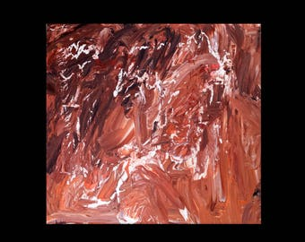 abstract art painting 50 x 50 cm chocolate passion