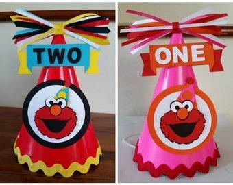 Elmo Birthday Hat, Elmo Party Hat, Girl Elmo Birthday Hat, Girl Elmo Party Hat, Sesame Street Birthday Hat, Elmo Hat, Girl Elmo Hat