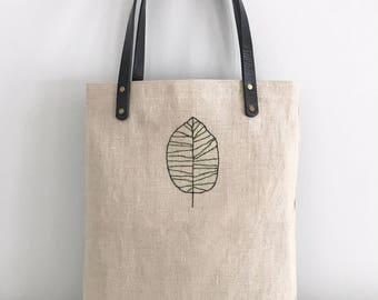 "Linen Tote ""Birch"""