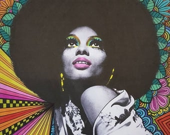 Diana Ross Psychedelic Art Print
