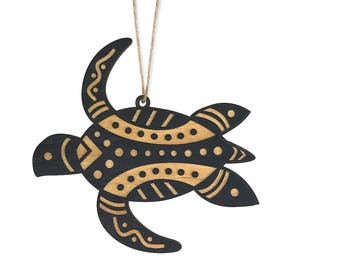 Aboriginal Sea Turtle Christmas Ornament