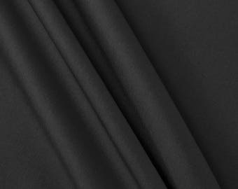 Black Stretch Taffetta Fabric by the Yard