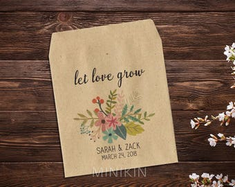 Wedding Seed Packets Rustic Custom Personalized Favor