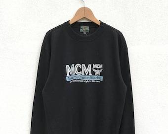 20% OFF Vintage MCM Big Logo Sweatshirt/MCM Crewneck/Mcm Pullover/Moderne Creation Munich