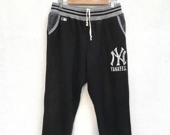 20% OFF Vintage New York Yankees Sweapants / Baseball Pants / Major League Pants / Dodgers Mets Red Sox Cubs Cardinal