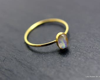 Mini Gold Oval Ring size 53