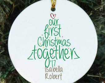 First Christmas Together Ornament, Personalized Ornament, Our First Christmas Ornament