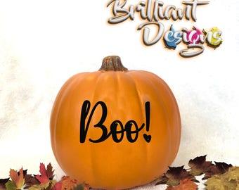 Pumpkin decal,Boo sticker,Halloween Decal,Halloween decor,Halloween sticker,sticker,pumpkin sticker,jack o lantern,Halloween party decor
