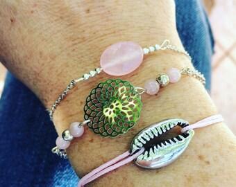 Soft and silvery pink cuff