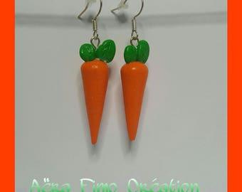 "Earring ""beautiful carrot orange"""