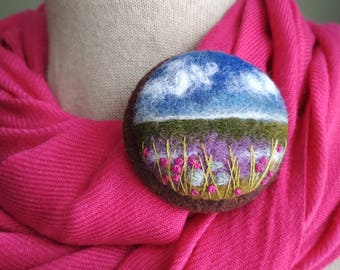 Gift ideas for her etsy needle felted brooch gift ideas for her birthday gift natural jewelry ireland landscape felted landscapes inspired negle Choice Image