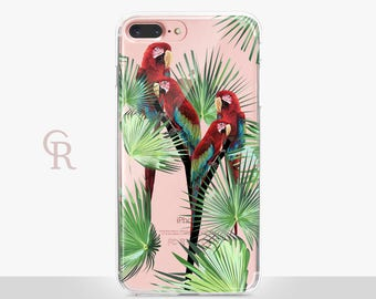 Parrot iPhone 7 Clear Case - Clear Case - For iPhone 8 - iPhone X - iPhone 7 Plus - iPhone 6 - iPhone 6S - iPhone SE Transparent  Samsung S8