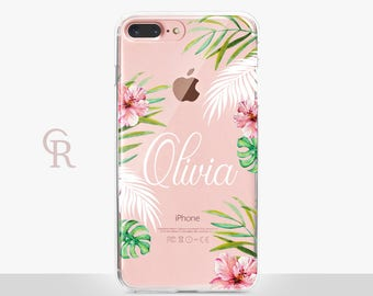 Personalised iPhone X Clear Phone Case For iPhone 8 iPhone 8 Plus - iPhone X - iPhone 7 Plus - iPhone 6 - iPhone 6S - iPhone SE - Samsung S8