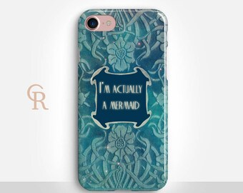 Mermaid Phone Case For iPhone 8 iPhone 8 Plus iPhone X Phone 7 Plus iPhone 6 iPhone 6S  iPhone SE Samsung S8 iPhone 5 Inspirational