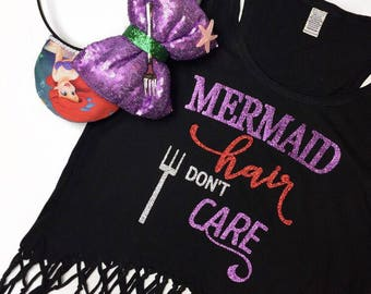 Mermaid hair dont care fringe top