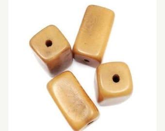 SALE 15% OFF 1 Tagua Klotz, light brown, 20mm Tagua bead