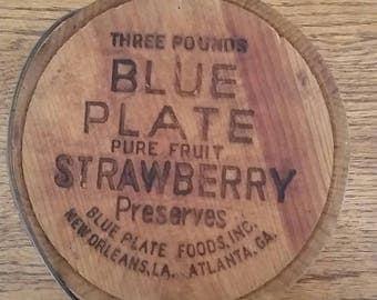Blue Plate  Preserves Bucket, 1950's