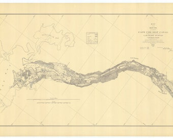 Cape Cod Canal Map 1884