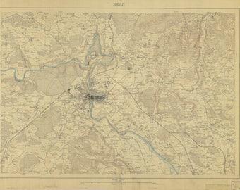Bern Switzerland Map 1884
