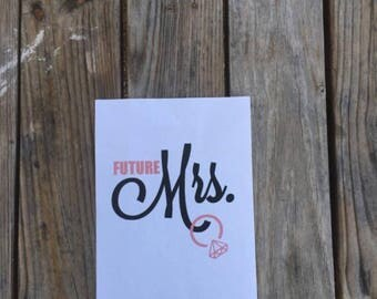 Fiture Mrs. Vinyl Decal ~ Vinyl Decal ~ Personalized Decal~ Bride Decal~wedding Decal