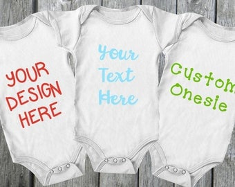 Design Your Own Custom Onesie | Personalized Bodysuit