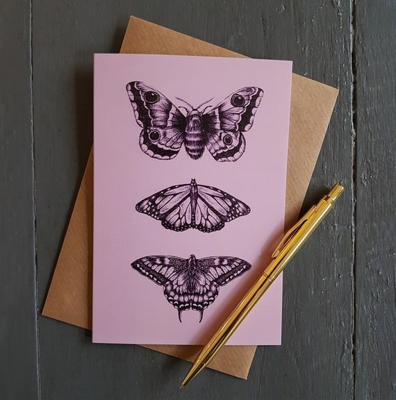 A6 Butterflies and Moths Greeting Card
