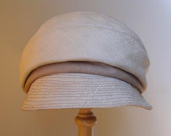 Vintage 1960s cream cap