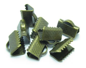 10x7mm claw CACHE BRONZE METAL ribbon bow