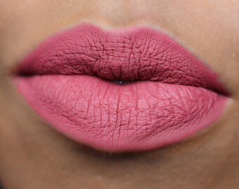Matte Liquid Lipstick : HIGHLAND. Pink salmon liquid lipstick. Vegan Matte Liquid Lipstick.
