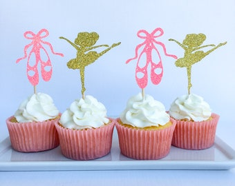 Ballerina cupcake toppers | Ballerina party | Ballet slippers | Ballerina | Ballerina cupcake topper | Ballerina baby shower
