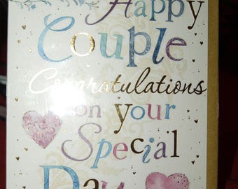 Ti the Happy Couple Congratulations On Your Special Day Card