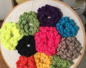 Crothchey flower wall hanging.