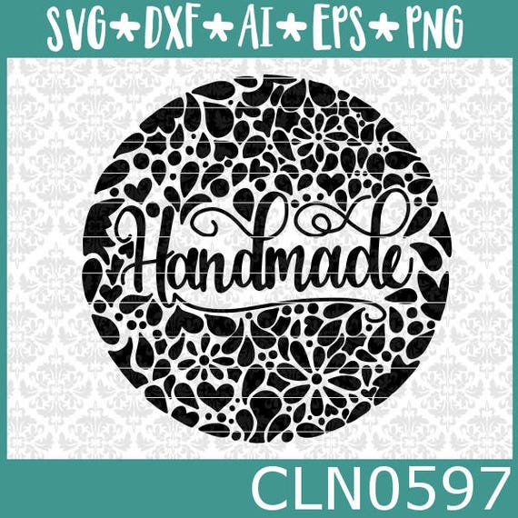 CLN0597 Handmade Hand Drawn Circle Filigree Zentangle SVG DXF Ai Eps PNG Vector Instant Download Commercial Cut File Cricut Silhouette