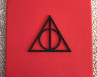 Harry Potter Deathly Hallows Canvas