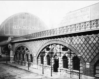 Poster, Many Sizes Available; Berlin Friedrichstrasse Railway Station 1885 Train Station