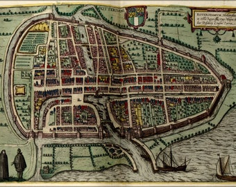 Poster, Many Sizes Available; Map Of Rotterdam 1612