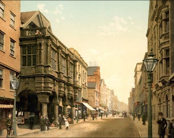 Poster, Many Sizes Available; High Street, Exeter, Devon, England, 1890S