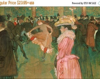 40% OFF SALE Poster, Many Sizes Available; Henri De Toulouse Lautrec, French At The Moulin Rouge The Dance
