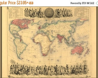 British empire map etsy 40 off sale poster many sizes available world map of british empire 1850 gumiabroncs Image collections