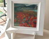 Field of Poppies - small original mixed media/pastel painting