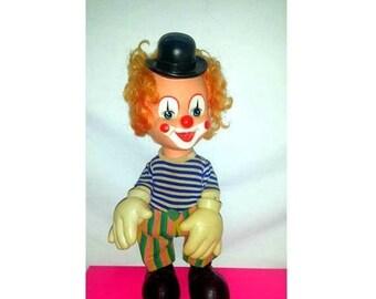 Vintage Rubber Face Clown,Clown Squeak Toy,Creepy Cute,Circus Clown,Rubber Clown Doll,Kitsch,Clown,Squeak Toy,Circus Clown,Hong Kong