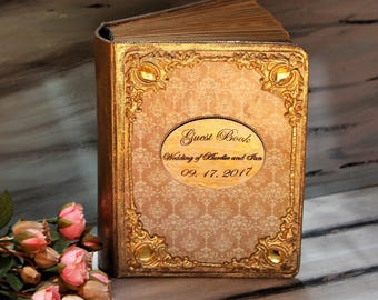 Wedding Guest Book, French Rococo Wedding Book, Marie Antoinette Wedding Book, Customized Book , Advice Wedding Book,  Personalized Book