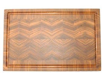Board cutting cutting board Zebrano