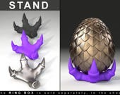 STAND for Dragon Egg Game of Thrones Ring Box - proposal ring box, engagement ring box, ring case, wedding, marriage, bridal, geek, geeky