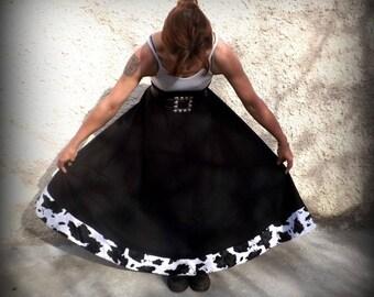 "Flared long skirt ""Kaliss"" cow"